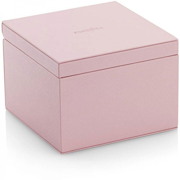 Small Pink Leather Jewelry Box