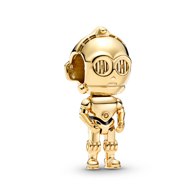 Pandora Star Wars C-3P0 3D life like Charm in Pandora Shine Gold metal blend