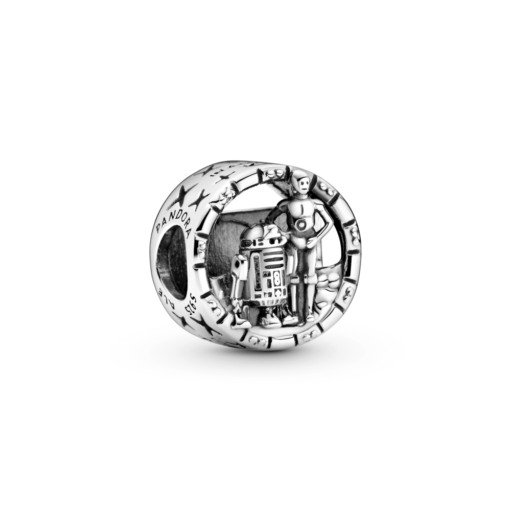 Pandora Star Wars C-3PO and R2-D2 Openwork Charm in Sterling Silver.