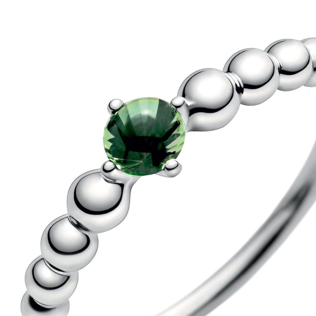 Spring Green Beaded Ring - Pandora Jewelry Las Vegas