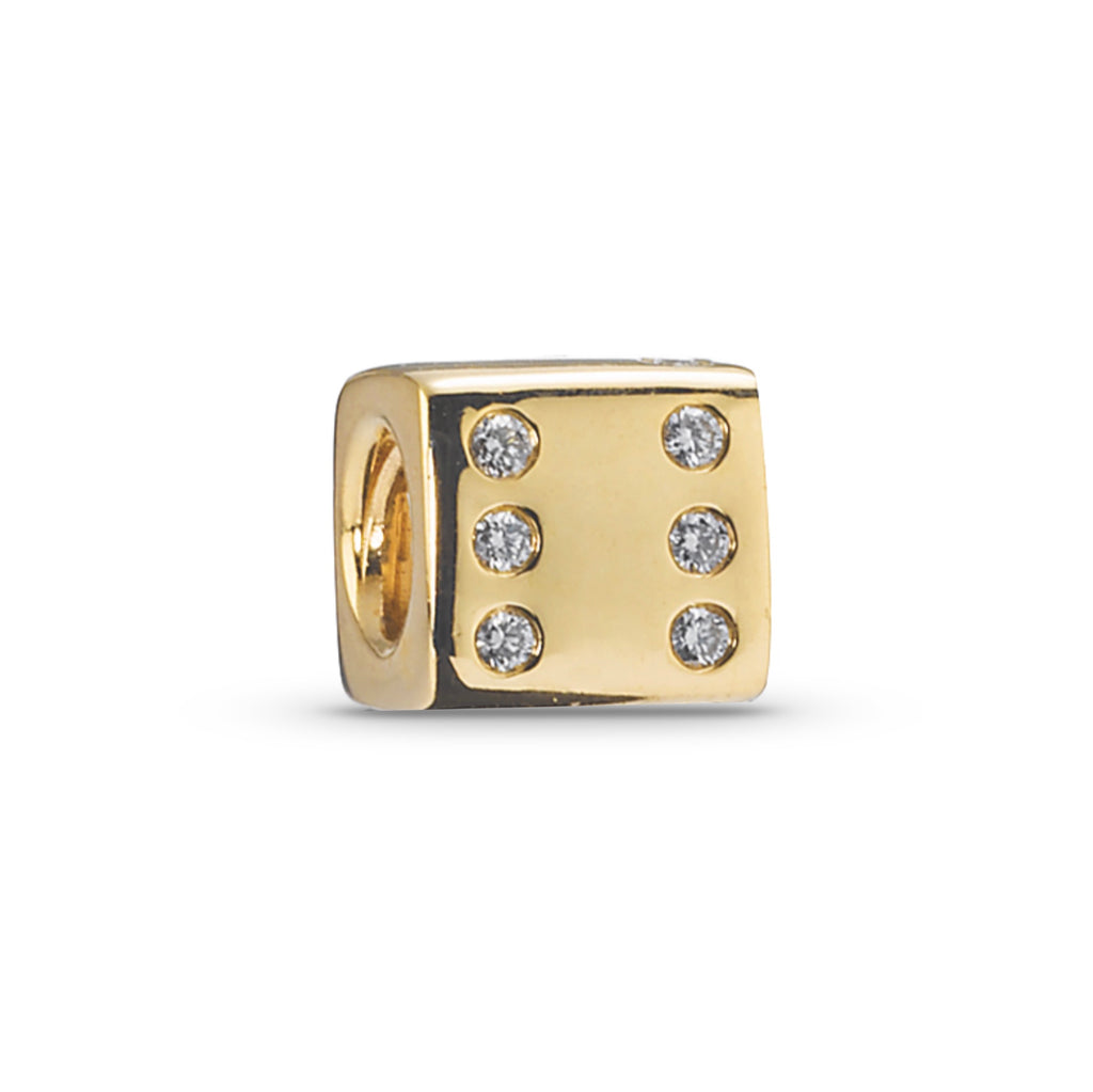 14K Gold Diamond Dice