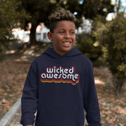 Wicked Awesome Retro Kids Youth Sweatshirt