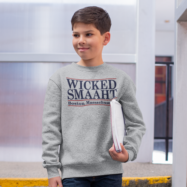 Wicked Smaaht Kids Youth Sweatshirt