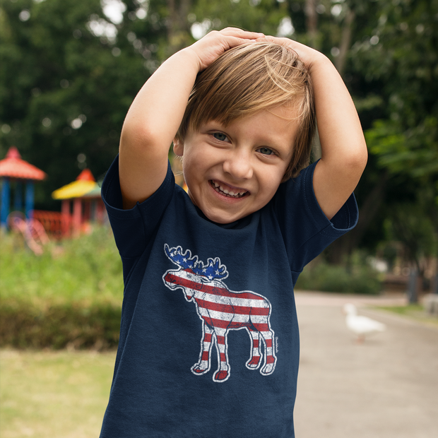 'Merica Moose Youth T-shirt