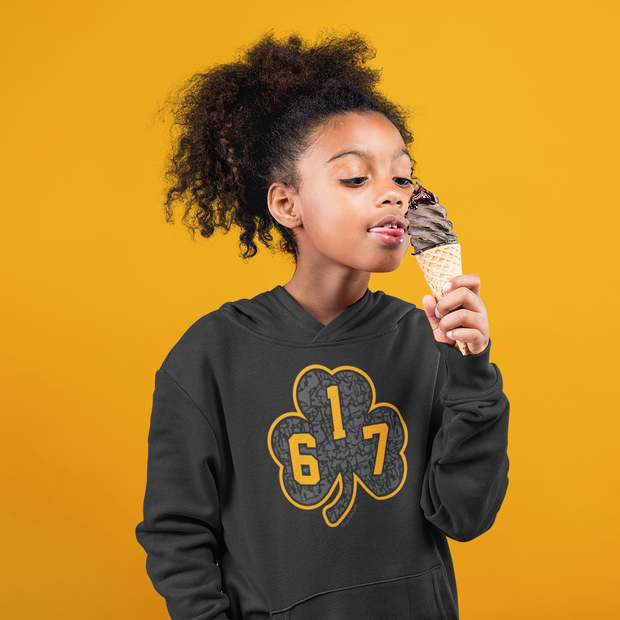 617 Black & Gold Street Shamrock Youth Sweatshirt