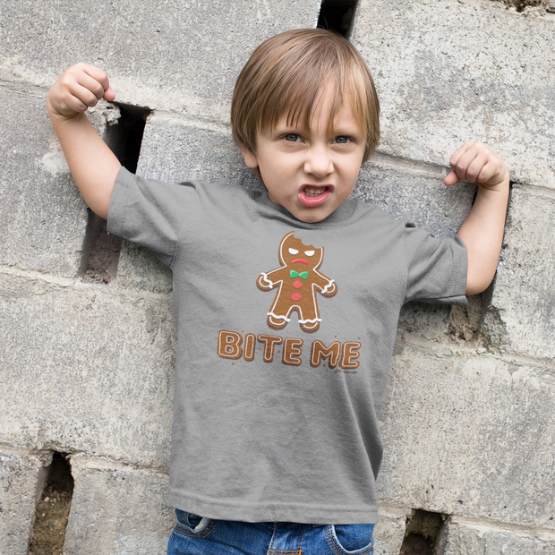 Bite Me Gingerbread Man Toddler T-Shirt