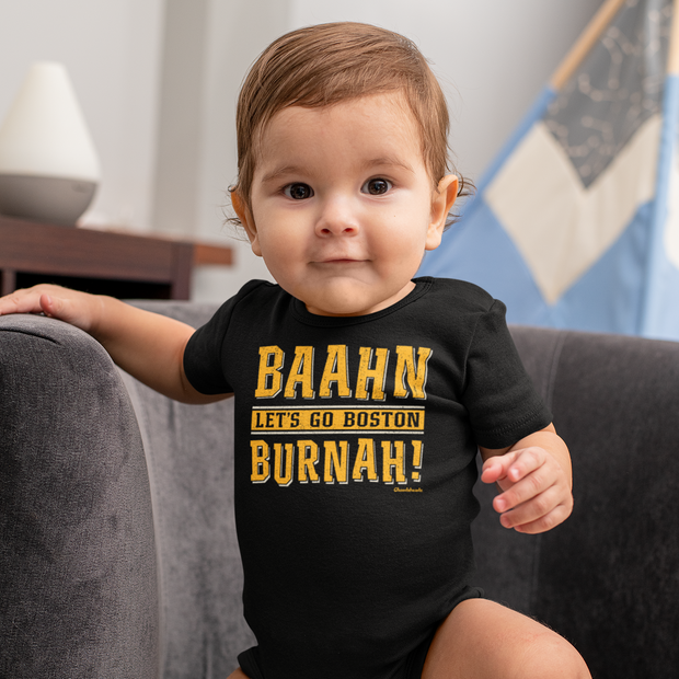 Baahn Lets go Boston Burnah! Infant One Piece