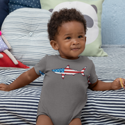 Stars and Stripes Shark Infant One Piece