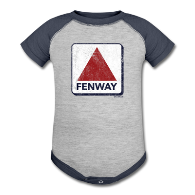 Fenway Sign One Piece Body Suit - heather gray/navy
