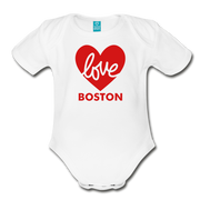 Love Boston Heart Infant One Piece - white
