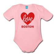 Love Boston Heart Infant One Piece - light pink