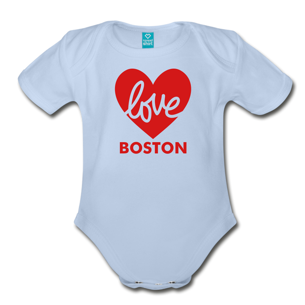 Love Boston Heart Infant One Piece - sky