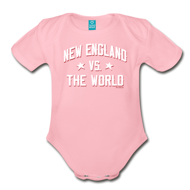 New England VS The World Infant One Piece - light pink