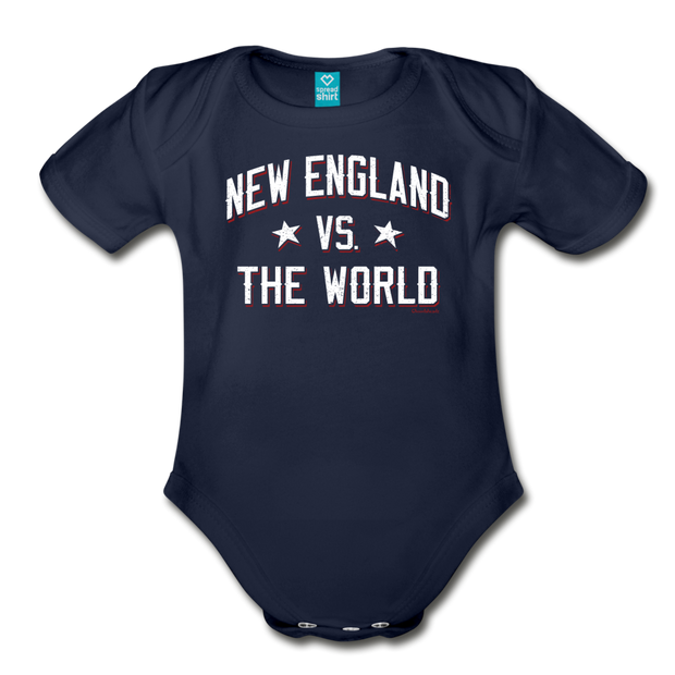 New England VS The World Infant One Piece - dark navy