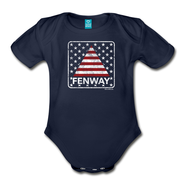 Fenway Sign Infant One Piece - dark navy