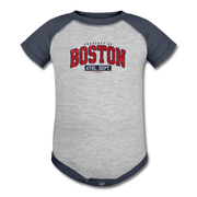 Property of Boston Athletic Dept. Infant One Piece - heather gray/navy
