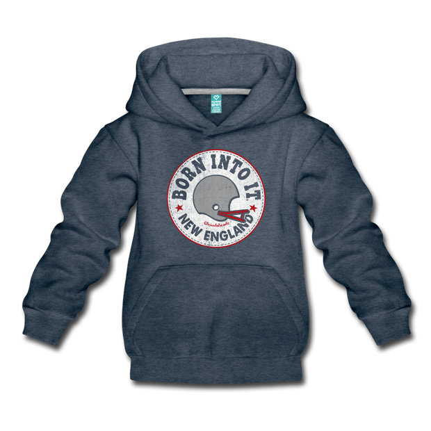 Born Into It New England Youth Sweatshirt - heather denim