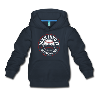 Born Into It Baseball Youth Sweatshirt - navy