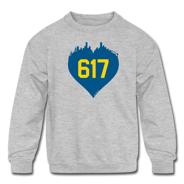 617 Heart Youth Sweatshirt - heather gray