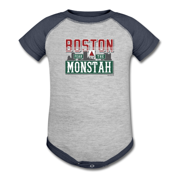 Boston Fear The Monstah Infant One Piece - heather gray/navy