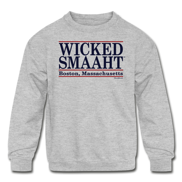 Wicked Smaaht Boston Bar Sweatshirt - heather gray