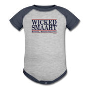 Wicked Smaaht Boston Bar Infant One Piece - heather gray/navy