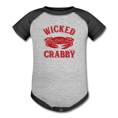 Wicked Crabby Infant One Piece - heather gray/charcoal