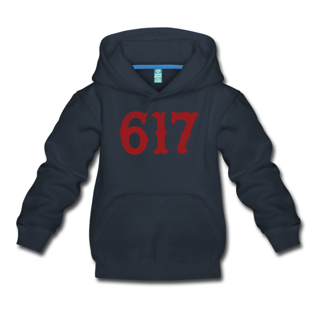 Boston 617 Team Spirit Youth Sweatshirt - navy