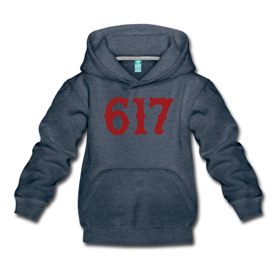 Boston 617 Team Spirit Youth Sweatshirt - heather denim