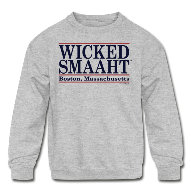 Wicked Smaaht Kids Youth Sweatshirt - heather gray