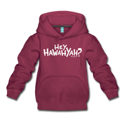 Hey Hawahyah Kids Youth Sweatshirt - burgundy