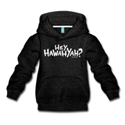 Hey Hawahyah Kids Youth Sweatshirt - charcoal gray