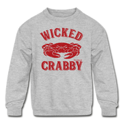 Wicked Crabby Kids Youth Sweatshirt - heather gray