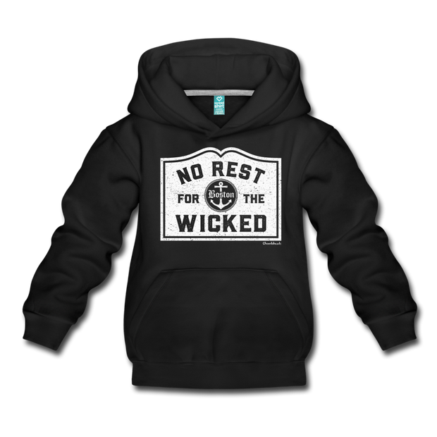 No Rest For The Wicked Kids Youth Sweatshirt - black