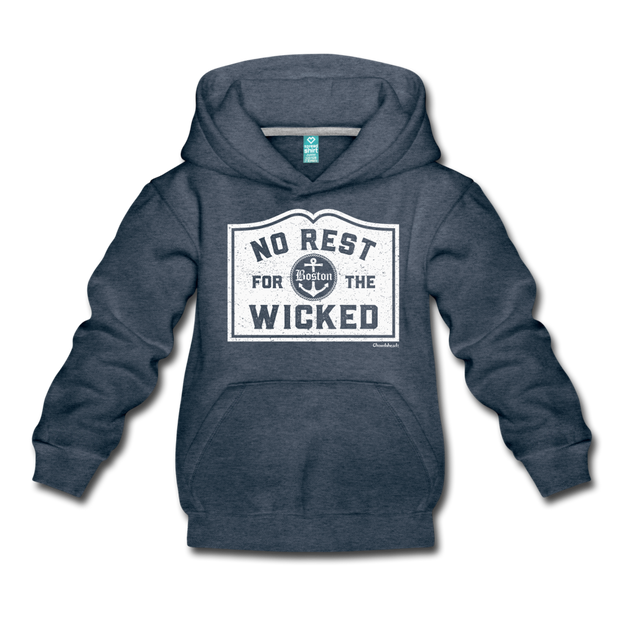 No Rest For The Wicked Kids Youth Sweatshirt - heather denim