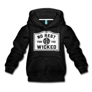 No Rest For The Wicked Kids Youth Sweatshirt - charcoal gray