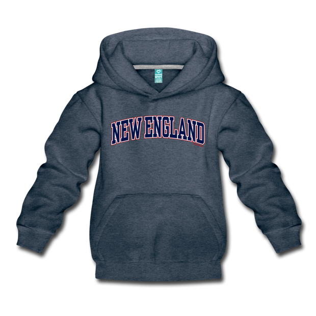 New England Kids Youth Sweatshirt - heather denim