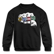 Kiss The Rings Kids Youth Sweatshirt - black