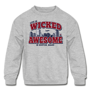Life Is Wicked Awesome Kids Youth Sweatshirt - heather gray