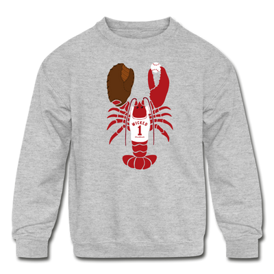 Boston Lobster Kids Youth Sweatshirt - heather gray