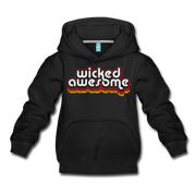 Wicked Awesome Retro Kids Youth Sweatshirt - black