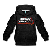 Wicked Awesome Retro Kids Youth Sweatshirt - charcoal gray