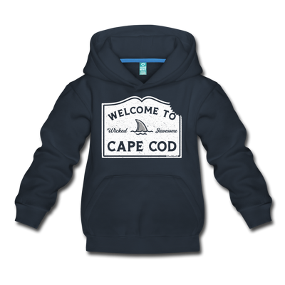 Welcome To Cape Cod Youth Sweatshirt - navy