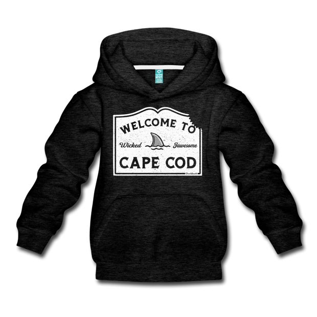 Welcome To Cape Cod Youth Sweatshirt - charcoal gray