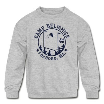 Camp Belichick Youth Sweatshirt - heather gray