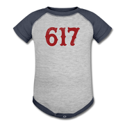 617 Team Spirit Infant One Piece - heather gray/navy