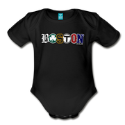 Boston Townie Pride Infant One Piece - black