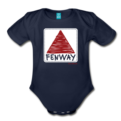 Fenway Sign Scribbles Infant One Piece - dark navy