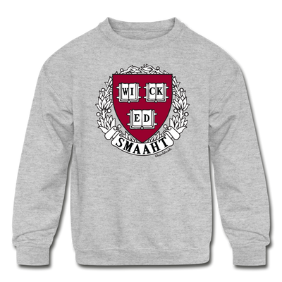 Wicked Smaaht College Sweatshirt - heather gray