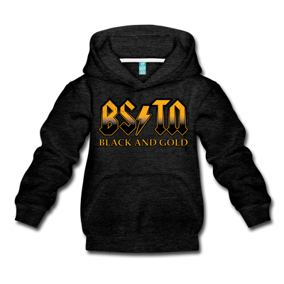 Boston Black & Gold High Voltage Youth Sweatshirt - charcoal gray